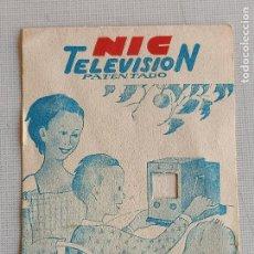 Giocattoli Antichi: FOLLETO NIC TELEVISIÓN. Lote 242140060