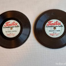 Giocattoli Antichi: NIC DISCOS DE FINITA LA MUÑECA QUE HABLA DE NIC. Lote 242146195