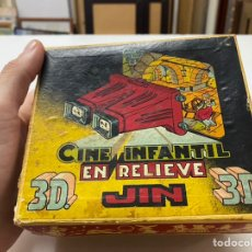 Juguetes Antiguos: CINE INFANTIL 3D EN RELIEVE VINTAGE JIN CON CAJA ORIGINAL Y 13 PELÍCULAS. Lote 243795525