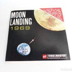 Juguetes Antiguos: MOON LANDING 1969 - GAF CORPORATION (1969) - TRES DISCOS Y LIBRO - VIEW MASTER. Lote 242004595
