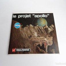 Juguetes Antiguos: LE PROJET APOLLO - GAF CORPORATION (1964) - TRES DISCOS Y LIBRO - VIEW MASTER. Lote 242005070