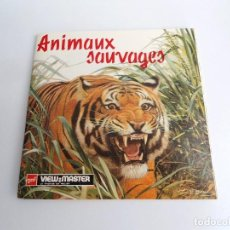 Juguetes Antiguos: ANIMAUX SAUVAGES - GAF CORPORATION 1955 - TRES DISCOS Y LIBRO - VIEW MASTER. Lote 242005560