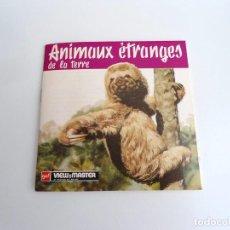 Juguetes Antiguos: ANIMAUX ETRANGES DE LA TERRE - GAF CORPORATION 1955 - TRES DISCOS Y LIBRO - VIEW MASTER. Lote 242005885