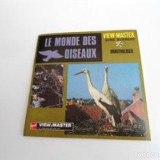 Juguetes Antiguos: LE MONDE DES OISEAUX - SERIE SCIENCES ORNITHOLOGIE - TRES DISCOS Y LIBRO - VIEW MASTER (1969). Lote 242006125