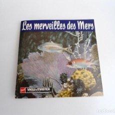 Juguetes Antiguos: LES MERVEILLES DES MERS - GAF CORPORATION 1954 - TRES DISCOS Y LIBRO - VIEW MASTER. Lote 244452935