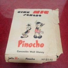 Juguetes Antiguos: PELICULAS CINE NIC. SONORO. PINOCHO. CONTIENE 4 DE PINOCHO. Lote 245969555