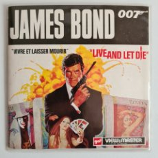 Juguetes Antiguos: VIEW MASTER JAMES BOND 007 LIVE AND LET DIE ROGER MOORE - 1973 - AGENTE SECRETO VIVE Y DEJA MORIR. Lote 254444080