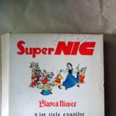 Juguetes Antiguos: BLANCA NIEVES Y LOS SIETE ENANITOS ESTUCHES SUPER NIC 6 PELICULAS SERIE W.D Nº609-614. Lote 259280950
