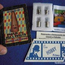 Brinquedos Antigos: REPUESTO PARA PROYECTOR SUPER CINEXIN 4 BOMBILLAS DE 3,8V PREFOCUS + REGALO!!!. Lote 257604585