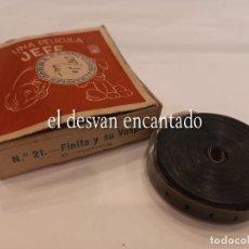Brinquedos Antigos: FINITA Y SU VESPITA. (VESPA). ANTIGUA PELÍCULA PROYECTOR JEFE 9,5 MM. MUY RARA. AÑOS 50. Lote 264530644