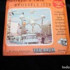 Juguetes Antiguos: DIAPOSITIVOS DE LO VISOR ESTEREOSCOPICO 3D VIEW-MASTER - 1958 - WORLD'S FAIR BRUSSELS. Lote 264979679