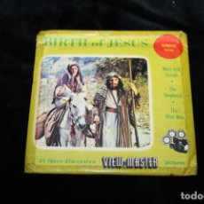 Juguetes Antiguos: DIAPOSITIVOS DE LO VISOR ESTEREOSCOPICO 3D VIEW-MASTER - 1958 - BIRTH OF JESUS. Lote 264981834