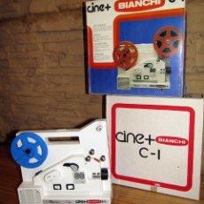 Juguetes Antiguos: ANTIGUO PROYECTOR CINE + C-1 DE BIANCHI - NUEVO Y EN SU CAJA ORIGINAL - FUNCIONANDO, IMPECABLE. Lote 265147629