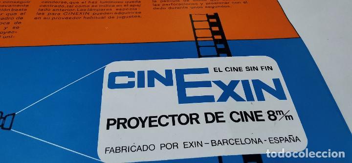 Juguetes Antiguos: CINE EXIN - PROYECTOR DE CINE 8 MM WALT DISNEY FALTA EL PIE - Foto 2 - 277569228