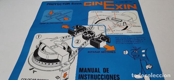 Juguetes Antiguos: CINE EXIN - PROYECTOR DE CINE 8 MM WALT DISNEY FALTA EL PIE - Foto 6 - 277569228