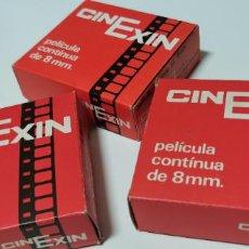 Juguetes Antiguos: CINEXIN 3 PELICULA 8 MM SIN REVISAR. Lote 277574308