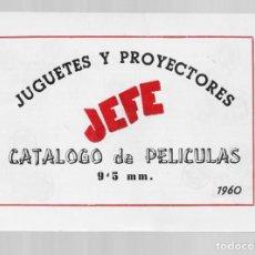 Juguetes Antiguos: CATALOGO DE PELICULAS 9,5 MM AÑO 1960 JUGUETES Y PROYECTORES JEFE. Lote 286908753