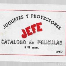 Brinquedos Antigos: CATALOGO DE PELICULAS 9,5 MM AÑO 1960 JUGUETES Y PROYECTORES JEFE. Lote 286908778