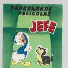 Juguetes Antiguos: CATALOGO DE PELICULAS AÑO 1958 JUGUETES Y PROYECTORES JEFE SALUDES. Lote 286908958
