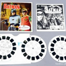 Juguetes Antiguos: VIEW MASTER BATMAN GAF MADE IN BELGIUM 1966 B 492 CON LIBRO EN FRANCÉS Y 3 PELÍCULAS. Lote 295476163