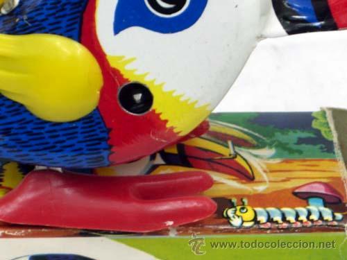 Juguetes antiguos Rico: Tucan de Rico pica pica con pipa años 60 Funciona - Foto 3 - 8033927