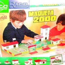 Juguetes antiguos Rico - RICO Juego Construcción MAQUETA 2000 Años 60 - 57009437