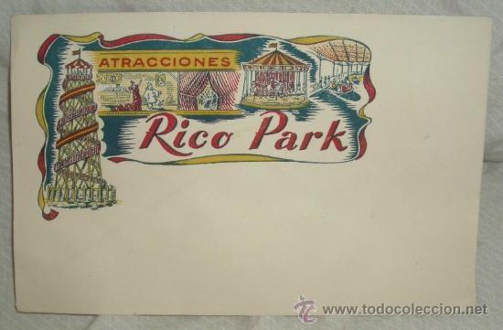 SOBRE PARA CARTA DE JUGUETES RICO(RICO PARK),AÑOS 50,A ESTRENAR (Juguetes - Marcas Clásicas - Rico)