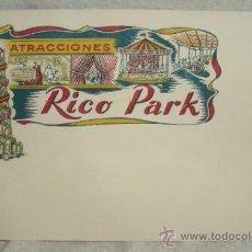 Juguetes antiguos Rico: SOBRE PARA CARTA DE JUGUETES RICO(RICO PARK),AÑOS 50,A ESTRENAR. Lote 216942155