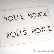Juguetes antiguos Rico: RICO ROLLS ROYCE SILVER SPIRIT PEGATINA-MATRICULA ORIGINAL DE FÁBRICA, COMPLETA TU COCHE !!!. Lote 21721412