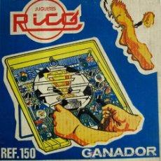 Juguetes antiguos Rico: GANADOR - JUEGO DE HABILIDAD ESTÉTICA FUTBOLERA – JUGUETES RICO REF. 150 (1966). Lote 22959551