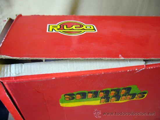 Juguetes antiguos Rico: RARA CAJA, SAHARA RAIDS, FABRICADA POR RICO, 1980s, MERCEDES, CAJA DE 62 X 41 CM, PLASTICO - Foto 15 - 32197635