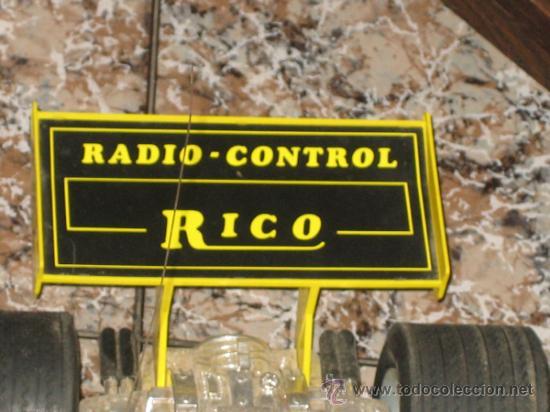 Juguetes antiguos Rico: RICO - COCHE DE CARRERAS - FUNCIONA CON PILAS Y MANDO A DISTANCIA - Foto 2 - 32347396