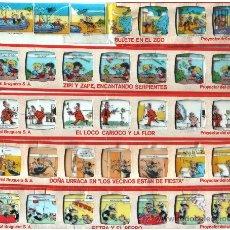Juguetes antiguos Rico: 12 TIRAS HISTORIETAS PROYECTOR RICO RICOLOR. Lote 35315095
