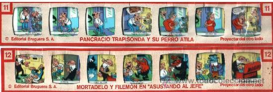Juguetes antiguos Rico: 12 TIRAS HISTORIETAS PROYECTOR RICO RICOLOR - Foto 3 - 35315095