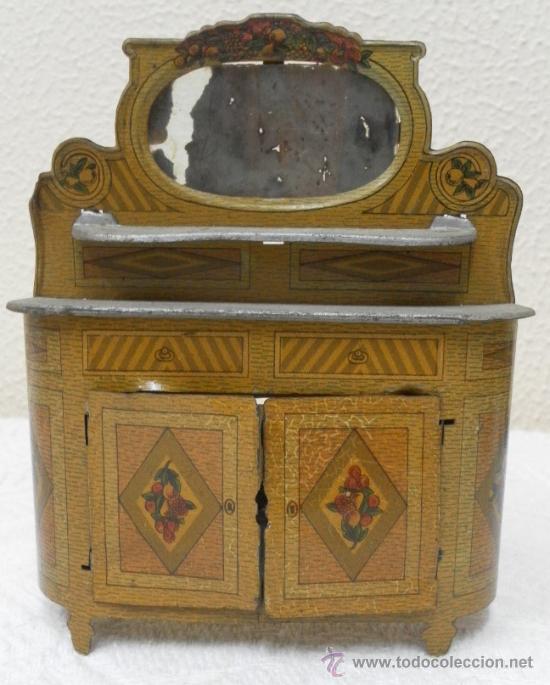Juguetes antiguos Rico: Aparador. Hojalata. Fabricado por Rico. Años 30/40. - Foto 2 - 36369955