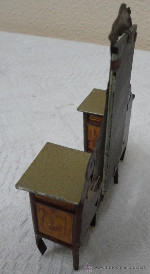 Juguetes antiguos Rico: Tocador modernista. Hojalata. Fabricado por Rico. Años 30/40. - Foto 6 - 36370041