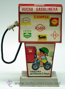 Juguetes antiguos Rico: Hucha gasolinera Rico Campsa años 70 - Foto 2 - 37254190