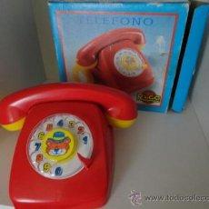 Juguetes antiguos Rico: TELEFONO RICO CON SONIDO Y CAJA FUNCIONANDO. Lote 37805376
