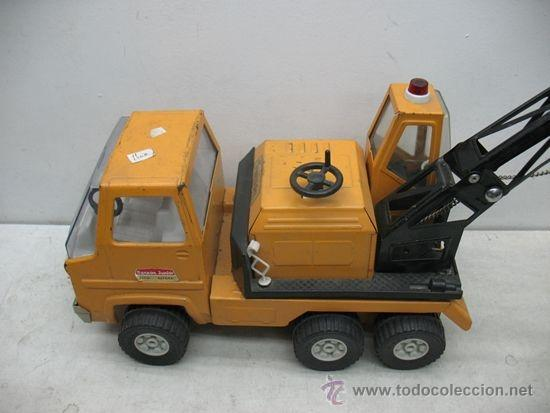 Juguetes antiguos Rico: Rico Sanson Junior - Camión grúa metálico - Foto 3 - 38228884