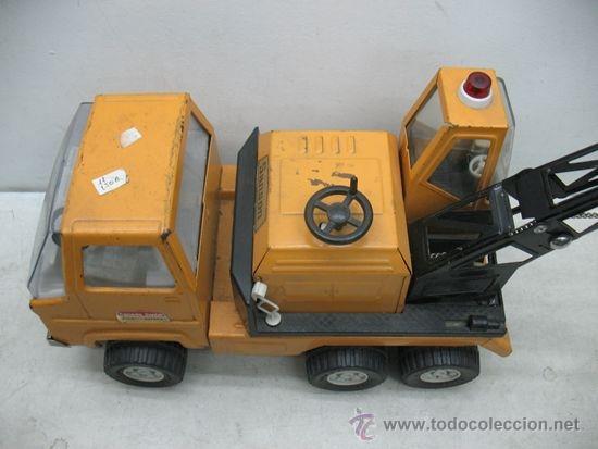Juguetes antiguos Rico: Rico Sanson Junior - Camión grúa metálico - Foto 4 - 38228884