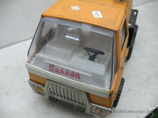 Juguetes antiguos Rico: Rico Sanson Junior - Camión grúa metálico - Foto 6 - 38228884