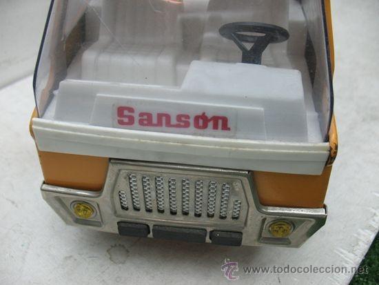 Juguetes antiguos Rico: Rico Sanson Junior - Camión grúa metálico - Foto 2 - 38228884