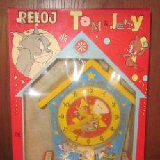 Juguetes antiguos Rico: RELOJ HUCHA RICO,TOM&JERRY,CAJA ORIGINAL. Lote 39736012