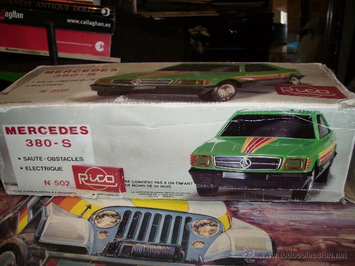 Juguetes antiguos Rico: mercedes 380s electrico salva obstaculos 36cms caja - Foto 2 - 99649732