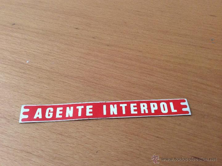 RICO FORD GALAXIE ADHESIVO AGENTE INTERPOL (Juguetes - Marcas Clásicas - Rico)
