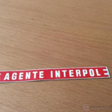 Juguetes antiguos Rico: RICO FORD GALAXIE ADHESIVO AGENTE INTERPOL. Lote 45311755
