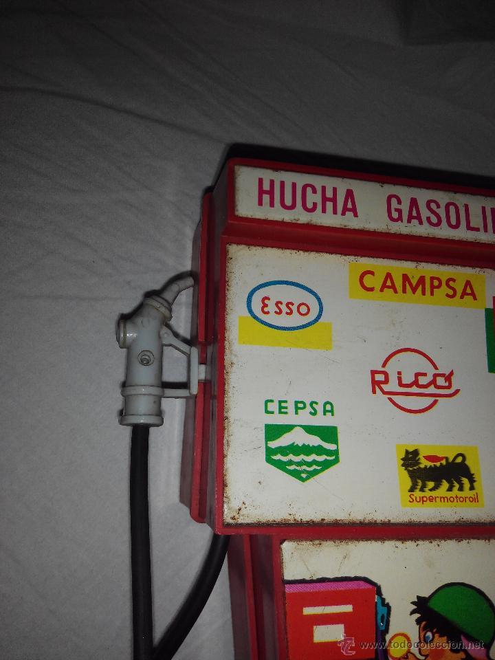 Juguetes antiguos Rico: Juguete hucha gasolinera Rico Gasolinera. publicidad Campsa, shell,Cepsa, Esso Supermotoroil AÑOS 70 - Foto 3 - 46877022