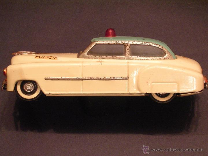 Juguetes antiguos Rico: Coche de Policía Auto Sedán Eléctrico Rico años 50, 60 - Foto 2 - 47269960