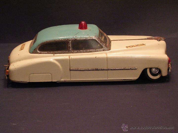 Juguetes antiguos Rico: Coche de Policía Auto Sedán Eléctrico Rico años 50, 60 - Foto 3 - 47269960
