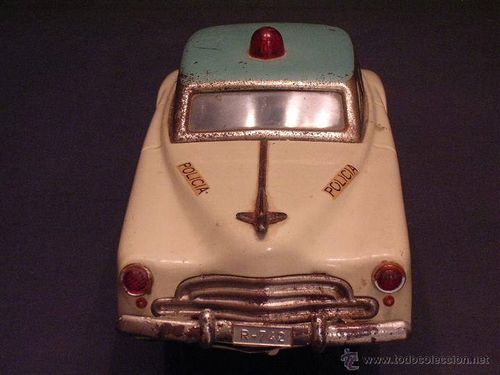 Juguetes antiguos Rico: Coche de Policía Auto Sedán Eléctrico Rico años 50, 60 - Foto 4 - 47269960